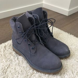 NWOT Gray/Blue Timberland Boots